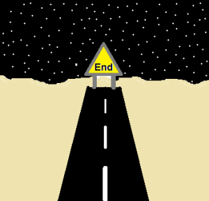 End of the road.